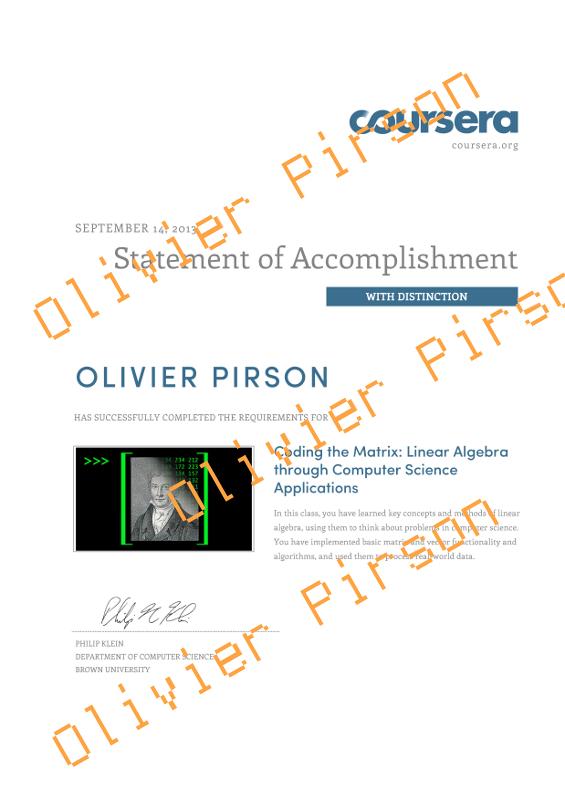 réalisations (Olivier Pirson OPi / CV / réalisations)