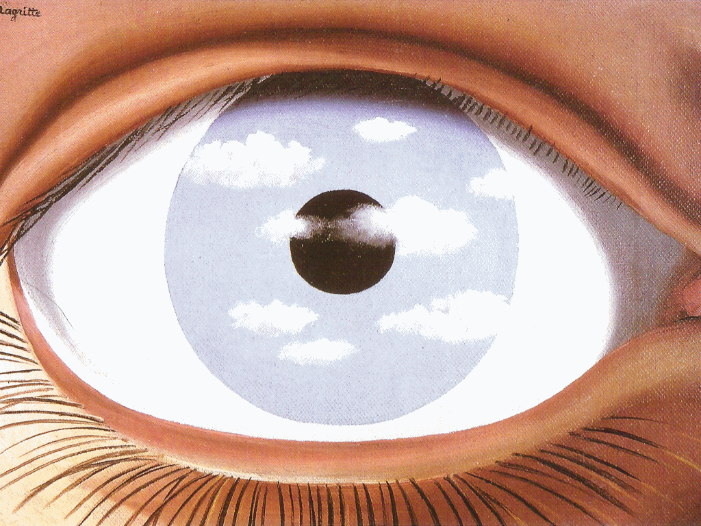 1000 images about eye to eye on pinterest eyes for Rene magritte le faux miroir